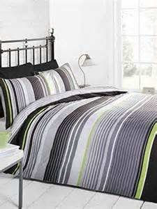 Lime Green Duvet Cover Multi Striped Bedding Cotton Rich Quilt Cover