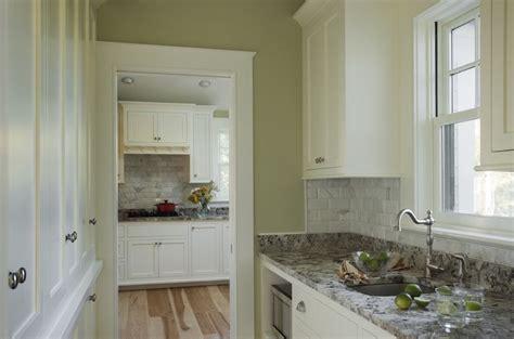 Beveled Marble Subway Tiles   Transitional   kitchen