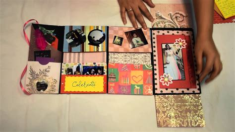 How To Make A Handmade Scrapbook - handmade birthday card mini scrapbook
