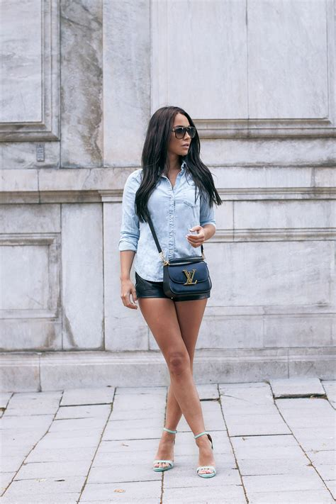 Denim Skirt With T Shirt 14 Teddy In Country way to dress denim shirt with shorts womenitems
