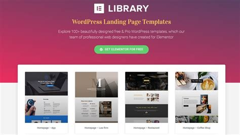 6 Reasons To Try Elementor Page Builder Theme Junkie Elementor Template Library