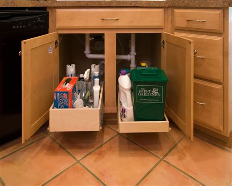 kitchen sink pull out drawer shelfgenie pull out shelves for the sink kitchen