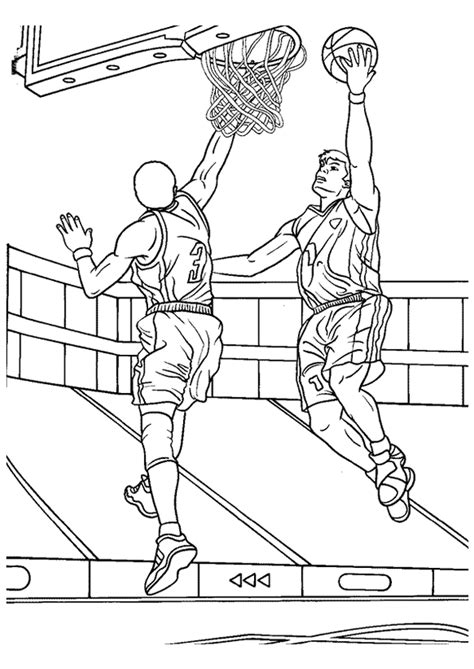 coloring pages for adults sports coloriage basket ball dunk sur hugolescargot com