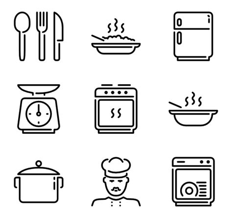 kitchen icon 35 kitchen icon packs vector icon packs svg psd png