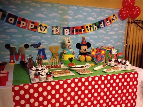 Snowman Home Decor Mickey Mouse Cake Table Decor Photograph Mickey Mouse Club