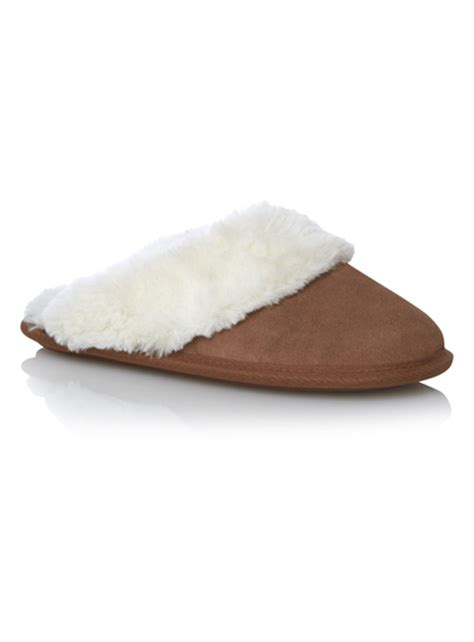 sainsburys childrens slippers womens suede mule slippers tu clothing