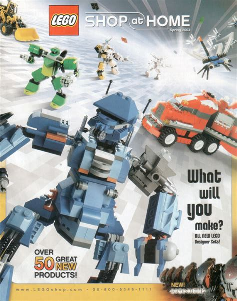 2003 shop at home 1 printed lego catalogues