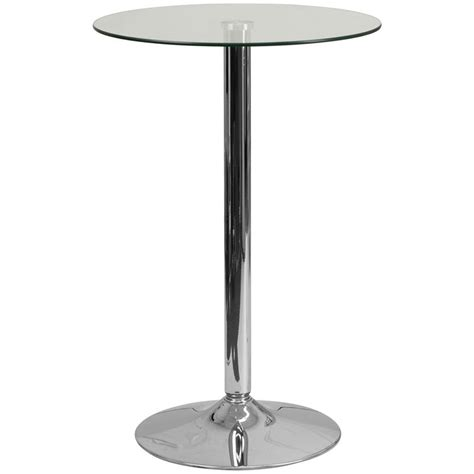 glass highboy cocktail table 35 5 quot r