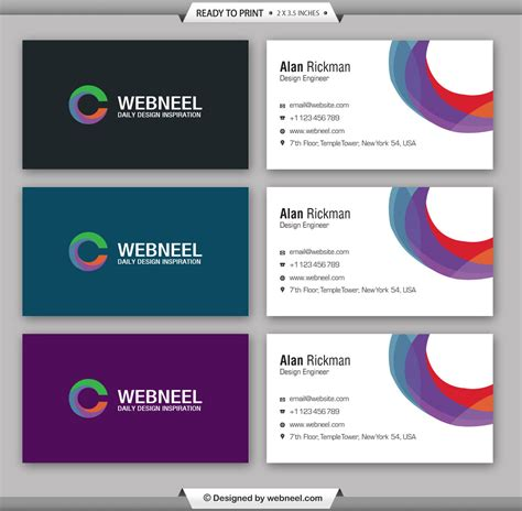 Moderns Business Card Template Illustrator Printer by Modern Business Card Template 16 Freedownload Printing