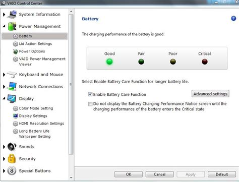 resetting battery sony vaio reset sony vaio laptop battery life extender from 80 to