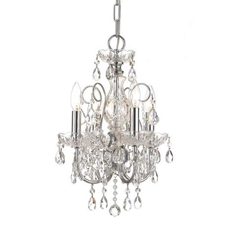 Chrome Chandelier Imperial Four Light Clear Chrome Mini Chandelier I