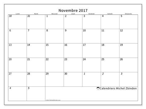 Calendrier De Novembre Calendriers Novembre 2017 Ld