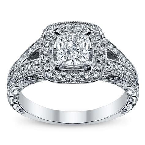 candlelight 14k white gold diamond engagement ring 1 ct tw