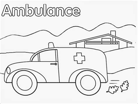 ambulance coloring page coloring home