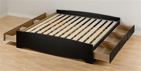 prepac black eastern king platform storage bed  drawers bbk furniture outlet jeromes