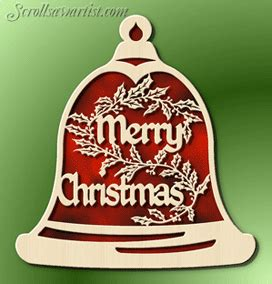 scroll  patterns merry christmas bell