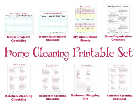 how to keep house cleaning schedule printable set keep your house clean