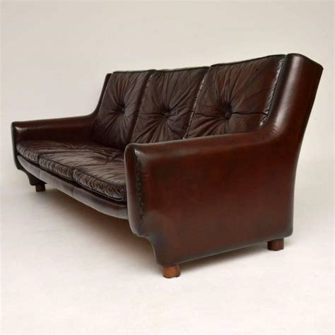 Retro Vintage Leather Sofa Retro Argentinian Leather Sofa Vintage 1960s At 1stdibs