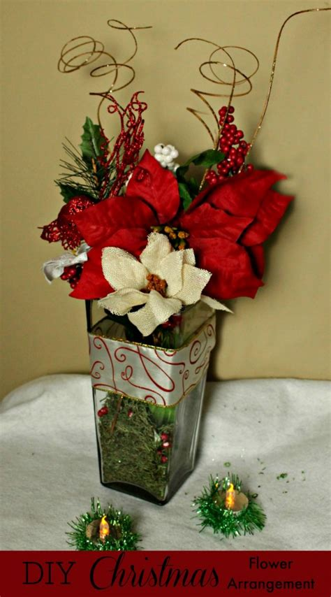 diy christmas flower arrangement made easy with the dollar