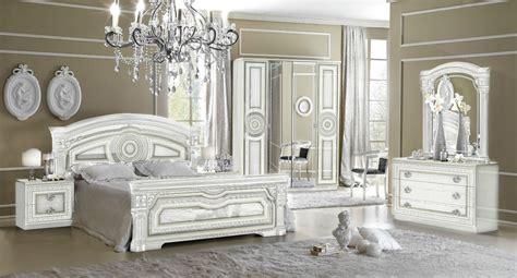 daya design italian  item bedroom set  whitesilver ebay