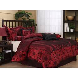 Gold Comforter Sets Queen Queen Size 7 Piece Bedding Comforter Set Red Black Bed Set