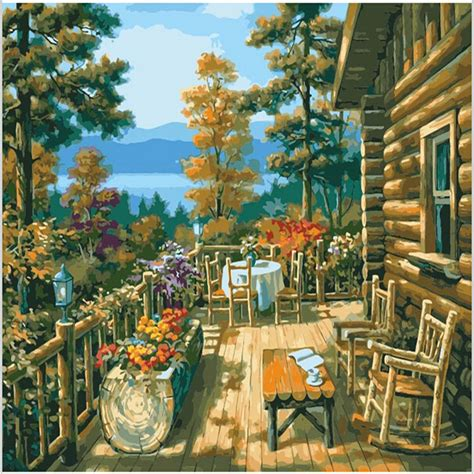 Sale Connector Pen Isi 60 aliexpress buy chalet balcony acrylic paintings