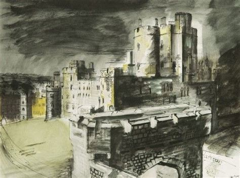 windsor castle by john piper, part of a series of