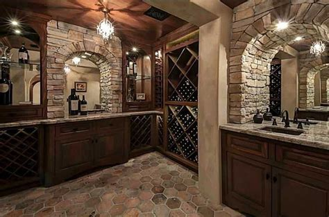wine cellar chandelier traditional wine cellar with stacked wall