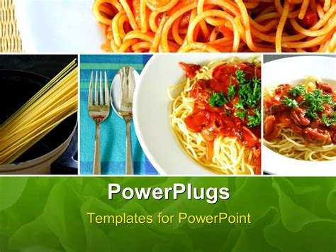 Powerpoint Template Collage Of Italian Spaghetti Food Series 27030 Food Powerpoint Templates