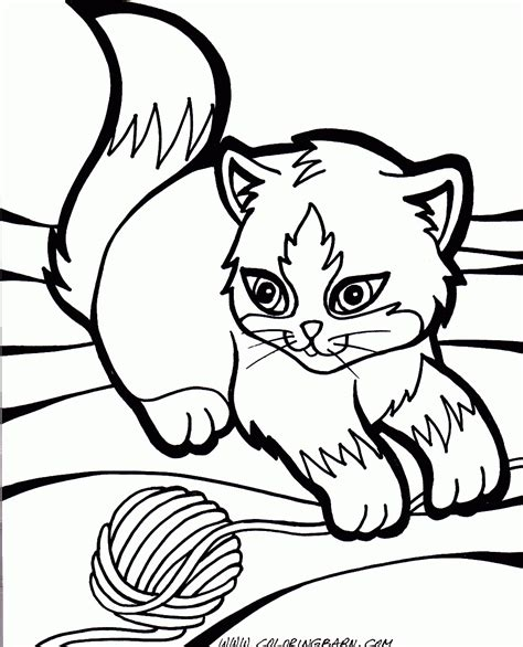 coloring pictures baby cat kitten coloring pages free large images