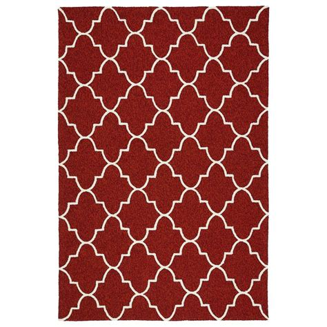 Kaleen Escape Red 8 Ft X 10 Ft Indoor Outdoor Area Rug Outdoor Rugs Home Depot