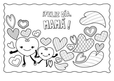 Dibujos Para Colorear Regalo Del Da De La Madre | d 237 a de la madre en el cole dibujos para pintar e imprimir
