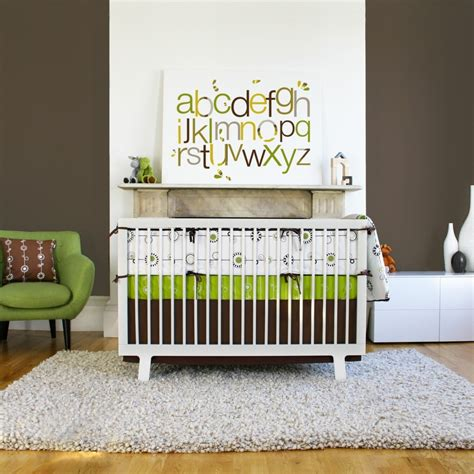 Green Nursery Bedding Sets Bedroom Impressing Modern Crib Bedding For Boys For Decorating New Baby Born Bedroom Founded