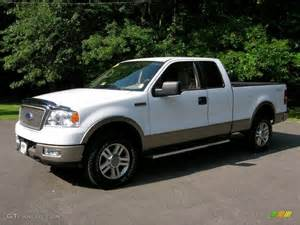 2005 oxford white ford f150 lariat supercab 4x4 34320211