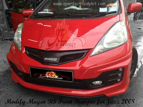 Bantal Honda Jazz Rs Mugen modify mugen rs front bumper for jazz 2008 honda fit 2008