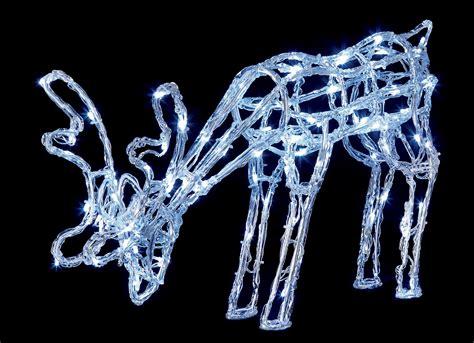 acrylic reindeer garden decoration 90 led lights outdoor