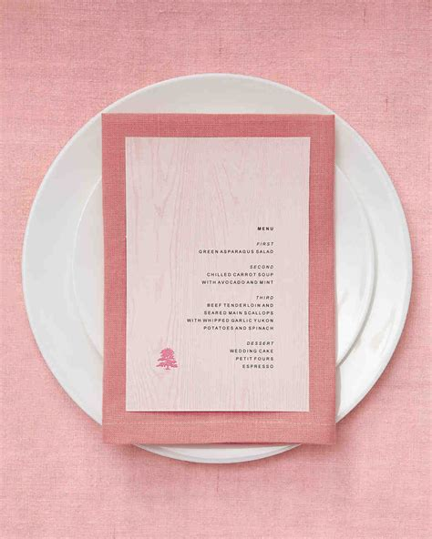 Wedding Menu Clip by Program And Menu Clip And Templates Martha Stewart