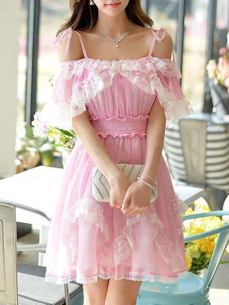 30618 Pink Sweet Offshoulder Dress 17 best images about girly fashion on kawaii shop gyaru and pink dress