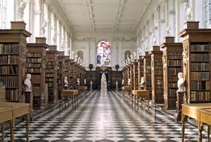 Interior Of Library by Roubiliac In The Wren Library College Library Cambridge