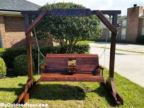 diy porch swing  center console  stand