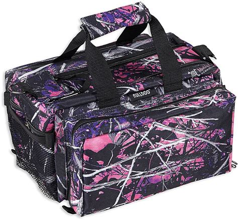 new pink muddy camo range bag w bulldog cases