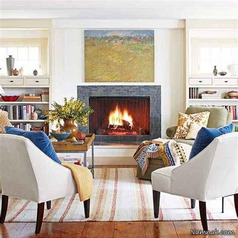seating in front of fireplace دکوراسیون منزل خود را زمستانی کنید تصاویر جديدترين