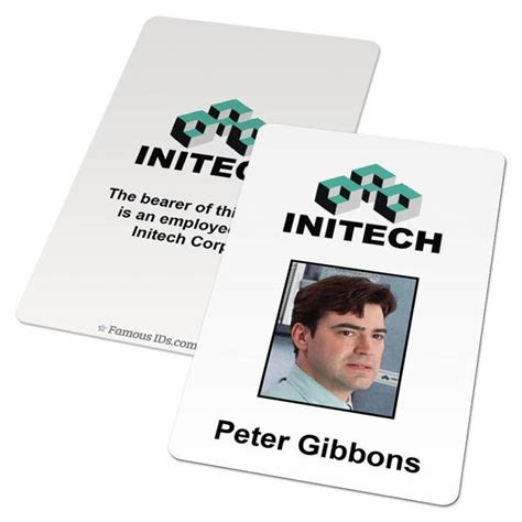 custom id card initech employee badge from office space