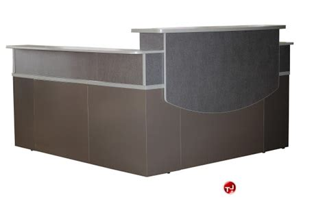 Metal Reception Desk The Office Leader 72 Quot L Shape Steel Reception Desk Workstation
