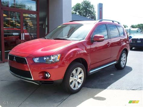 red mitsubishi outlander 2010 rally red metallic mitsubishi outlander se 32151221