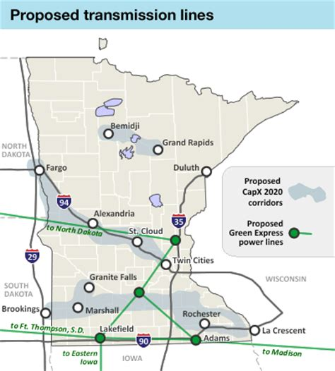 transmission lines map high voltage power lines could criss cross minnesota