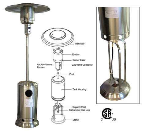Patio Heater Spares Outdoor Patio Heater Parts Outdoor Furniture Design And Ideas