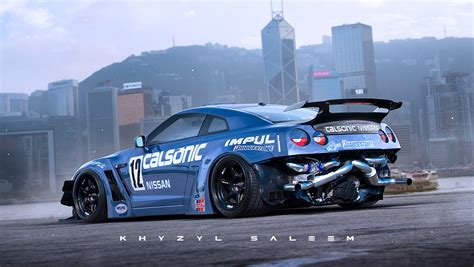 nissan drift nissan gt r drift car with exposed rear mounted turbos
