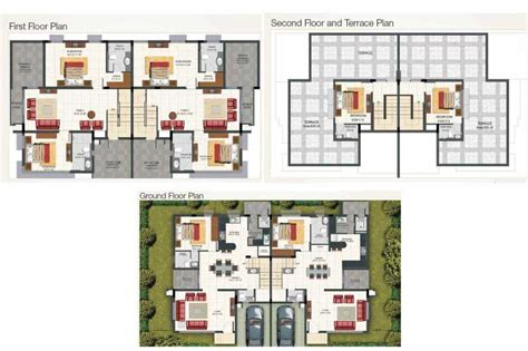 Antilla Floor Plan | villa antilla 4 bhk floor plan