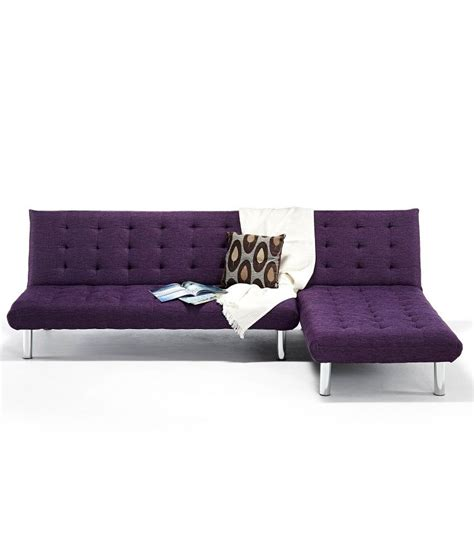 l shaped bed settee kyra l shaped sofa bed purple available at snapdeal for rs